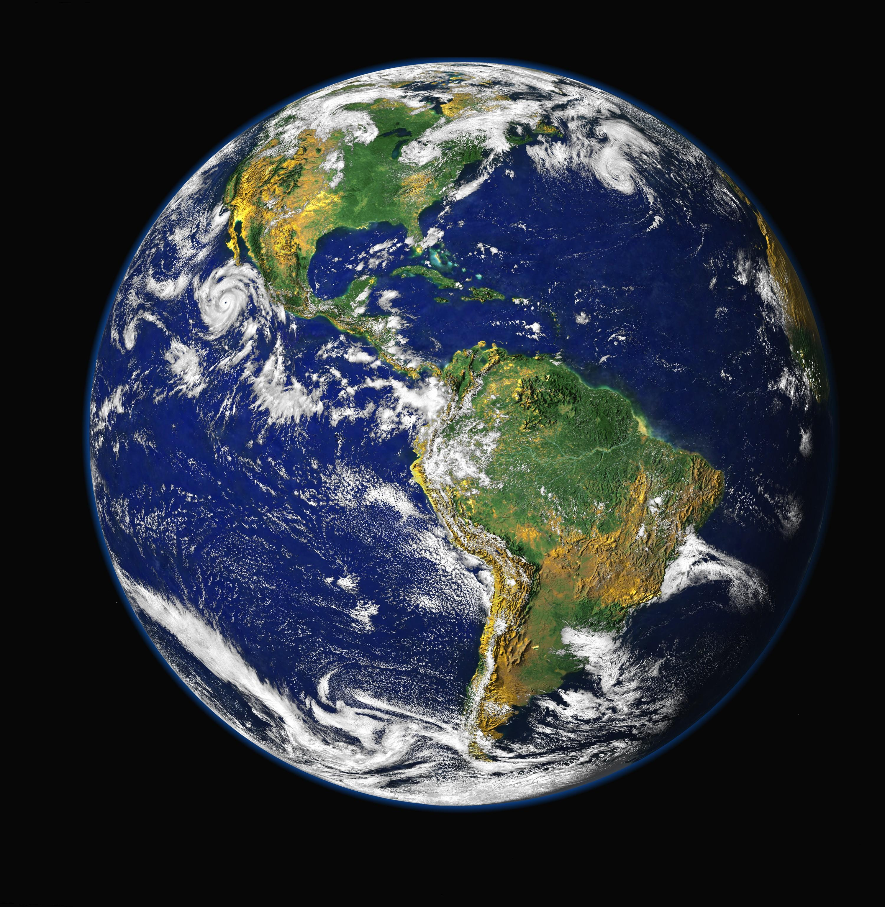 Satellite View of the Americas on Earth Day | NASA  |Satellite View Earth Via